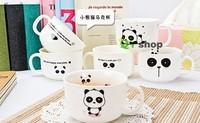 Hot selling panda cup set free shipping cartoon panda mug set for tea coffee milk great panda gift on sale panda dinnerware