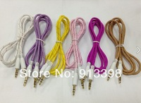 very cheap 1m Audio cable lucency  colorful free shipping