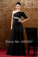 robe soiree 2014 noche dresses Party Elegant Long Formal Evening Gowns Black Evening Dress