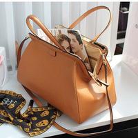 2014 leather bag genuine leather handbag women's vintage brief fashionable casual star style one shoulder handbag messenger bag