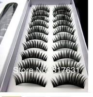 with tracking number free shipping New 10 Pair Thick Long False Eyelashes Eyelash Eye Lashes Voluminous Makeup