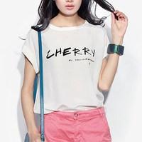Fashion summer silk mulberry silk patchwork 100% cotton loose top short-sleeve T-shirt female