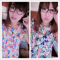 Women Dress Special Offer 2014 Spring - Summer New Women's Dress Korean Chiffon Slim Short-sleeved Bottoming Free Shipping 13831