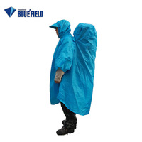 Blue 210t outdoor multifunctional waterproof rainproof wear-resistant backpack rain cover one piece raincoat