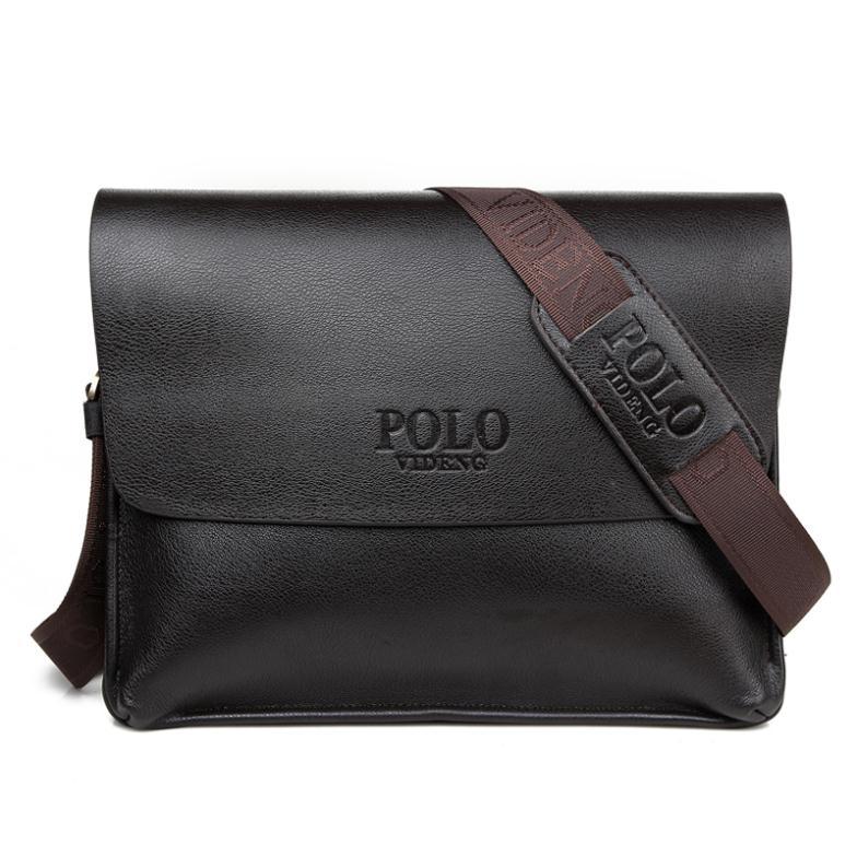 New 2014 bag brand Large cross section men's business casual shoulder bag leather men messenger bag men travel bags(China (Mainland))