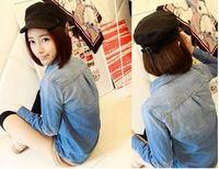 Wholesale fashion new style long sleeve Women's denim shirt