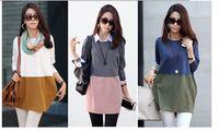 Wholesale new style fashion patchwork Plus size women dress