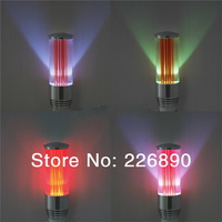wholesale long cup  shape indoor RGB LED E27 with remote ,can work from 85-365V,15pcs/lot