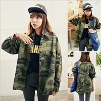 2014 spring preppy style Camouflage women's shirt women shirt f27