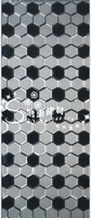 Glass mosaic hexagonal mirror ktv background wall