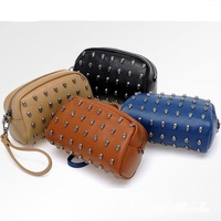 2014 Korean version the new women's wallet shoulder bags rivets mini-packet mobile diagonal package women bag wholesale
