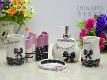 Fashion resin bathroom set  five pieces set bathroom supplies sweet theme charming girl