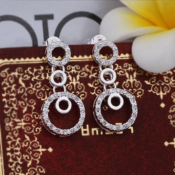 925 silver earrings fashion jewelry earrings beautiful earrings high quality fashion earrings cf id(China (Mainland))