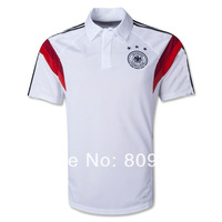 Top Thailand quality  2013/14 Germany polo socce polo Germany  socce white polo embroidery logo free shipping