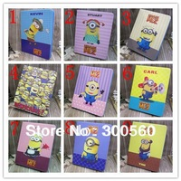 High Quality Despicable Me Minion Character Leather Stand Case Smart Cover for Samsung Galaxy Tab 3 8.0 T310 T311