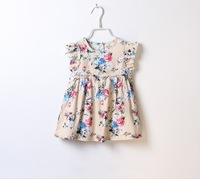 Baby girl dresses Children flower ball gown Kids floral sleeveless dress Kid garment 3-8Y 6 pieces/lot Wholesale Free shipping