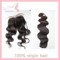 Grade 5A virgin malaysian hair fabulous body Wave 3bundles Weave with 1piece closure centural part queen hair GALI Queen Hair
