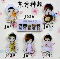 Minimum order $20,MIX ORDER accepted. brand new TVXQ korean super star new cartoon figure trendy jewelry cheap jewelry