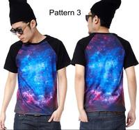 Hip Hop Mens Womens Galaxy Space Cosmic Graphic Digital print top Tee T shirt