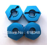 102042 Alloy Wheel 12mm Hex Nut HSP 02134 Blue