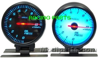 60MM APEX AUTO GAUGE / AUTO  METER /OIL PRESSURE GAUGE/WITH SENSOR (BLACK FACE  OR WHITE FACE)