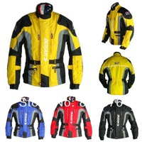 New DUHAN Men's Motor Oxford Jacket Motorcycle Jacket Racing Jacket Motocross jacket,long jacket with 5pieces protector Black