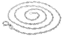 Wholesale silver women's necklace silver jewelry necklace best silver necklace free shipping(China (Mainland))