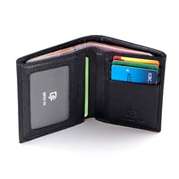 Brief fashion 2014 men wallet Vertical casual wallet genuine leather wallet