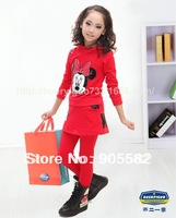 Free Shipping 4pcs/lot 2014 Fashion Girl's Cloth Sets
