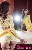 Yellow Lace Pierced Bodydoll LC2257 Cheap price Drop Shipping