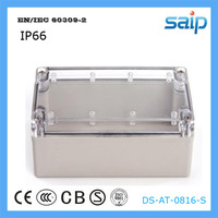 ABS Plastic Clear Cover Waterproof Switch Box /Waterproof Enclosures Enclosures for Equipment With CE Approval 80*160*55 mm Size
