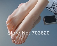 Free shipping!!! Cheap!!! sex solid silicone feet modelfemale foot/soft feet/silicone feet sex toy, size 37, real skin color