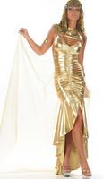 Golden Cleo Hero Costume LC8243 Cheap price Free Shipping Drop Shipping
