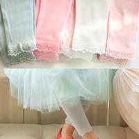 Boys Pants Special Offer Fantasia Infantil 2014 Children's Spring Clothing Strawberry Candy Color Lace Child 100% Cotton Legging