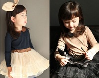 2014 spring girls clothing female child one-piece dress spring dress tulle female child spring one-piece dress