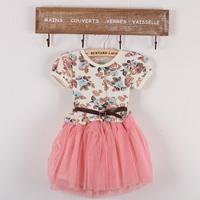 2014 Real Sale Meninas Vestir Kidsdress Children's Clothing Female Child Baby One-piece Dress Summer Princess Tulle All-match