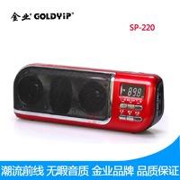 Gold sp-220 radio memory mp3 player small digital audio mini card usb flash drive speaker