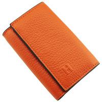 H male women's orange first layer of cowhide lovers key wallet genuine leather women's keychain
