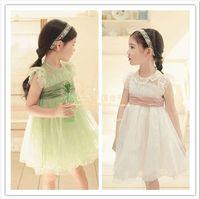 Meninas Vestir Peppa Baby Girls Dress Girls Summer Clothing Aesthetic Kid's Gauze Lace One-piece Dress Butterfly Sleeve Ribbon