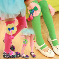 Children's clothing female child 2014 spring cotton flower over-the-knee knee-high socks booties ankle sock 103
