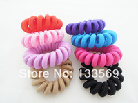 Small kind of pure color cloth art line hair rope children's hair accessories