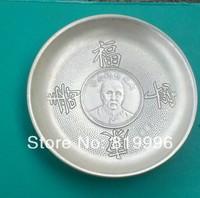 Exquisite Chinese Miao Silver Bowls Da Yuan Shuai Coin Miao Silver Plate