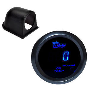 2 1 16 inch 52mm Gauge Black Pod Digital LED Oil Temperature Gauge Auto Oil Temp Gauge Meter Car Styling Free Shipping(China (Mainland))