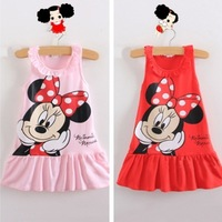 Child cartoon female sleeveless one-piece dress  TB001