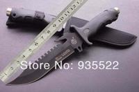 2014 new SR006 Straight Assault Knife With Nylon Sheath 53HRC 420 HK Free Shipping