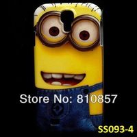 RETAIL, Despicable Me Case for Galaxy S4 Minion Case, Print Cover for Samsung i9500 SIV, FREE SHIP