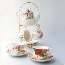 Vickyhome2014 set cup holder rose butterfly coffee set tea set