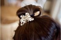 Min. order is $10 (mix orderz) Korean fashion flash rhinestone pearl butterfly hair band hot sale Free shipping