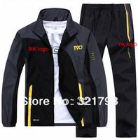 FREE SHIPPING,brand men sportswear coat jacket spring autumn tracksuit leisure jogging suit hoodies Sweatshirts set