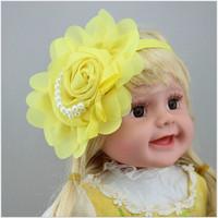 New Style Beautiful Headband Hairband Baby Girls Flowers Headbands Kids' Hair Accessories Baby Gift free shipping wholesale
